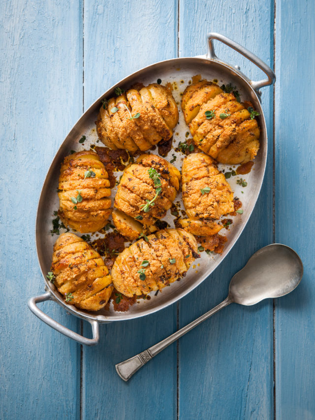 Hasselback Spud Lite Potatoes