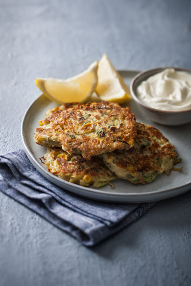 Spud Lite Potato and Halloumi Fritters